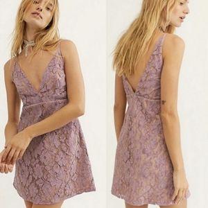 {Free People} New Dangerous Love Lace Mini Dress